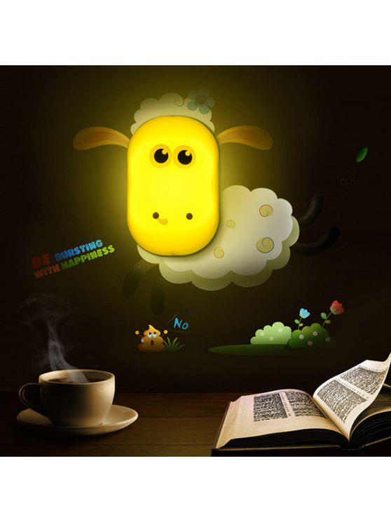 outfit Home Decor Cartoon Sheep Bedside Desk LED Night Light - YELLOW
