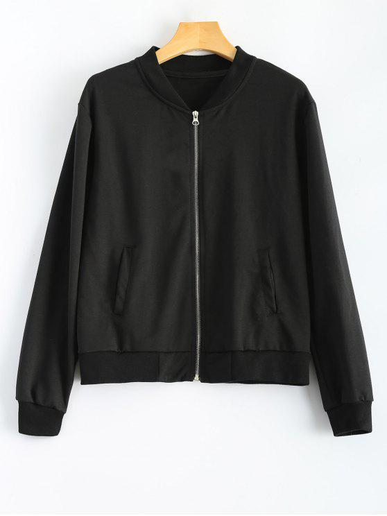 best Comfy Baseball Jacket - BLACK L