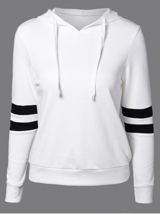new Sports Color Block Hoodie - WHITE S