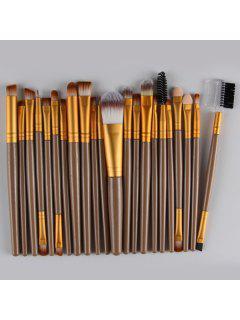 22 Pcs Nylon Eye Lip Makeup Brushes Set - Golden