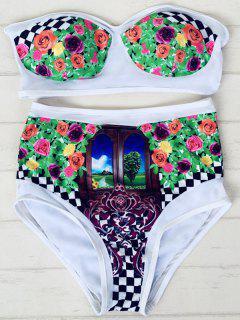 Scenery Bretelles Taille Haute Bikini Set - Blanc M