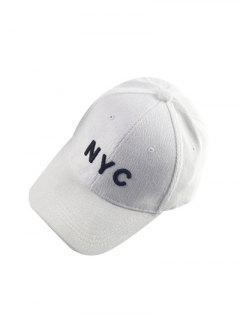 Casquette De Baseball NYC Brodé En Velours Cotelé - Blanc