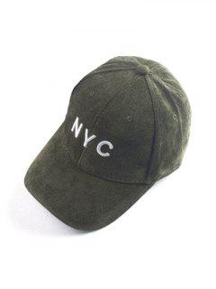 Autumn NYC Embroidery Corduroy Baseball Hat - Army Green
