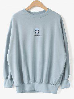 Cartoon Sweatshirt Mignon - Bleu