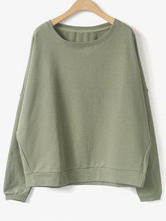 Bat-Wing Sleeve Sweatshirt - Pale Green