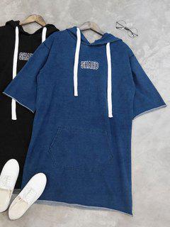 Shahd Brodé Sweat à Capuche Robe - Bleu