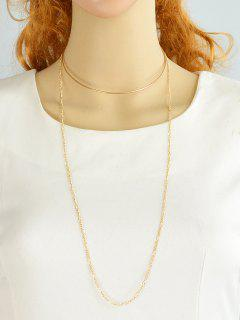 Circle Alloy Embellished Chain Choker - Golden