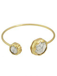 Natural Stone Floral Bracelet - White