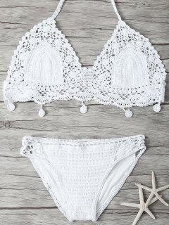 Mesh Crocheted Bikini - White S