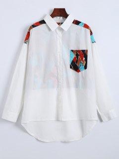 Argyle Print Shirt - White