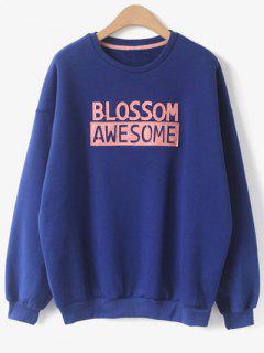 Awesome Blossom Patch Sweat Ras Du Cou - Bleu