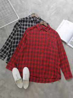 Shirt Ras Du Cou Chemise à Carreaux - Rouge