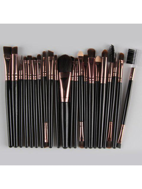 latest 22 Pcs Nylon Eye Lip Makeup Brushes Set - BLACK  Mobile