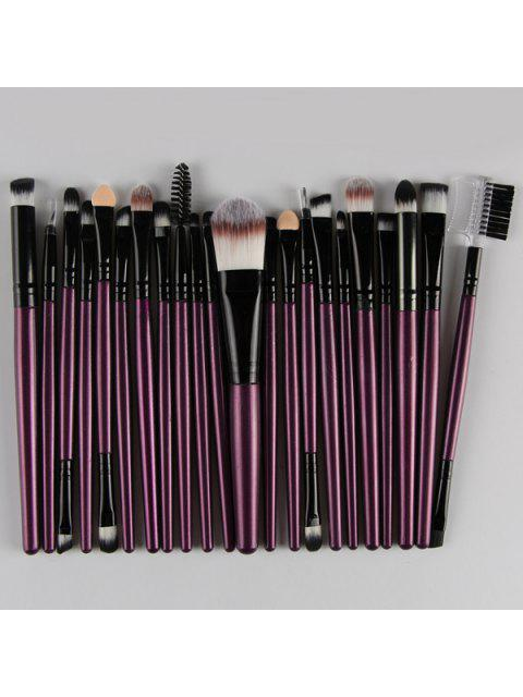 trendy 22 Pcs Nylon Eye Lip Makeup Brushes Set - PURPLE  Mobile