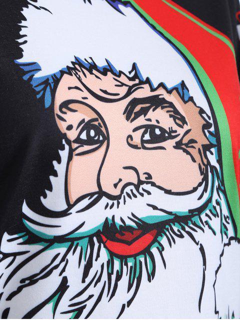 3D Père Noël Imprimer Noël T-shirt - Noir XL Mobile