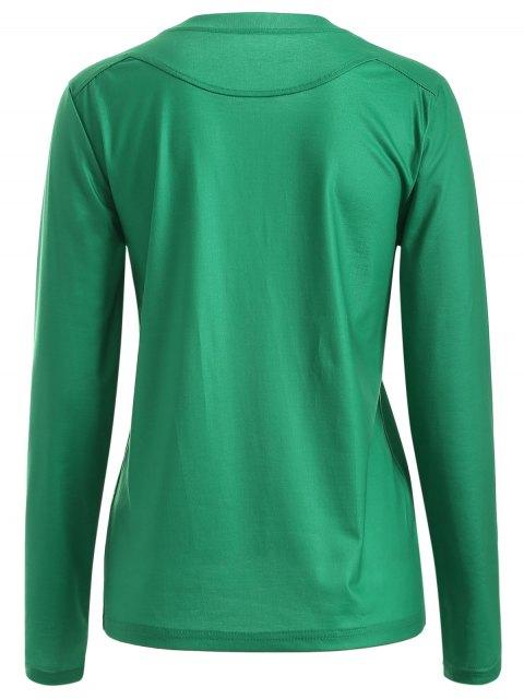 Motif Père Noël T-shirt - Vert XL Mobile