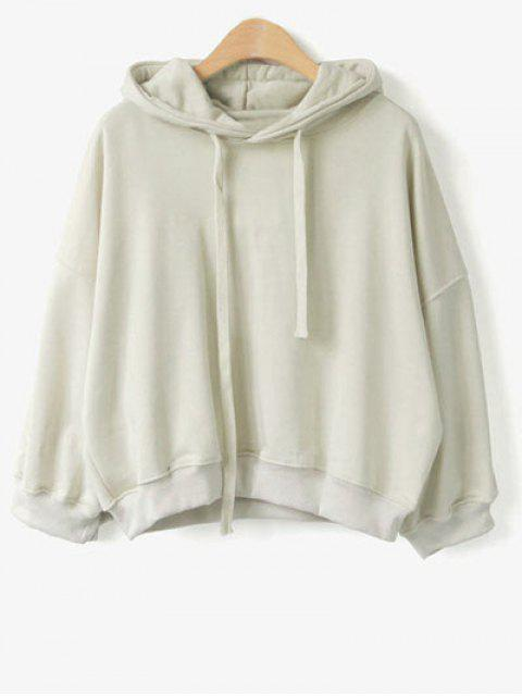 sale Drawstring Hoodie - APRICOT ONE SIZE Mobile