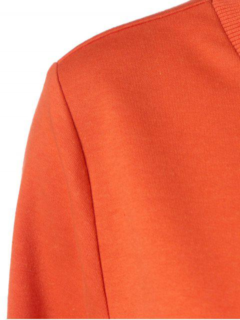 outfit Halloween Grimace Print Sweatshirt - LUMINOUS ORANGE S Mobile
