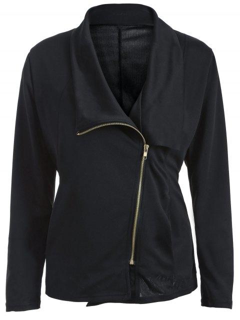 Plié Zippered Asymmetric Jacket - Noir XL Mobile