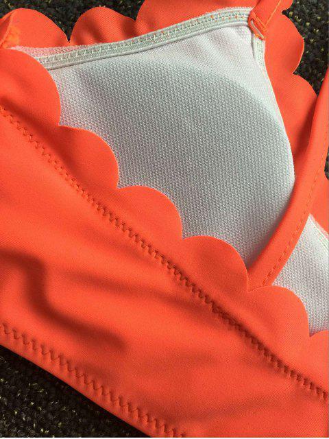 outfit Scalloped Bikini Set - JACINTH XL Mobile