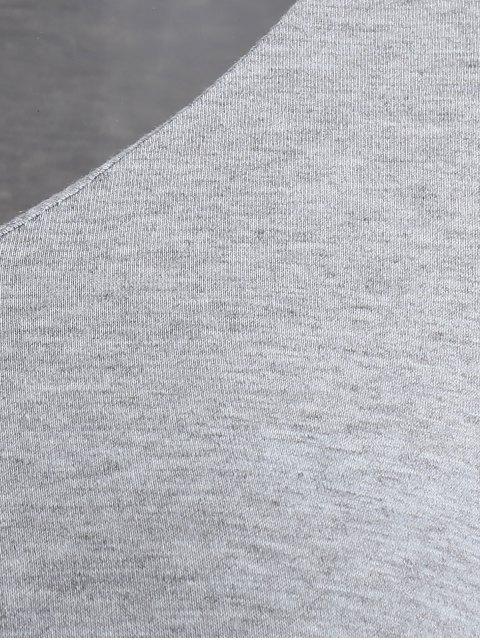 chic Long Sleeved Choker T-Shirt - GRAY XL Mobile