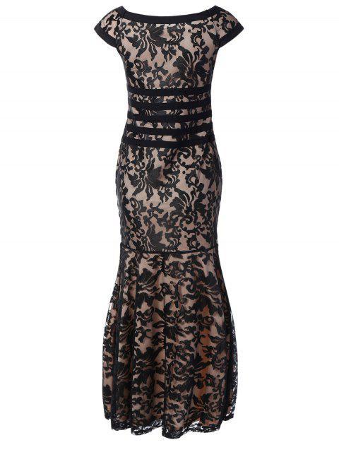 Lace Maxi robe de bal - Noir 2XL Mobile