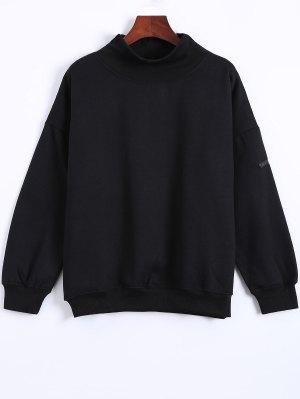Sweatshirt col roulé avec patch