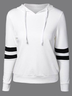 Sports Color Block Hoodie - White L