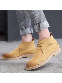 الدانتيل يصل أشار تو أحذية عادية - الأصفر 44