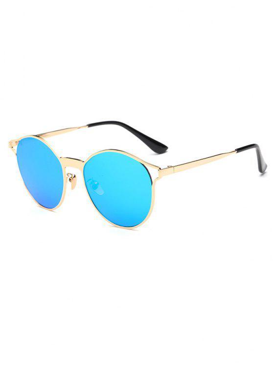Ahueca hacia fuera el marco ovalado espejo gafas de sol - Azul Hielo