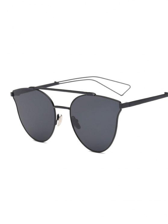new Hollow Out Leg Crossbar Butterfly Sunglasses - BLACK