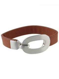 Faux Leather Bracelet - Coffee