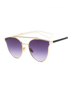 Hollow Out Leg Crossbar Butterfly Sunglasses - Deep Purple
