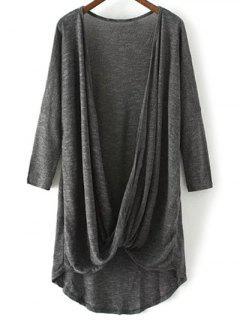Escotado Sobrepelliz La Camiseta - Gris Oscuro M