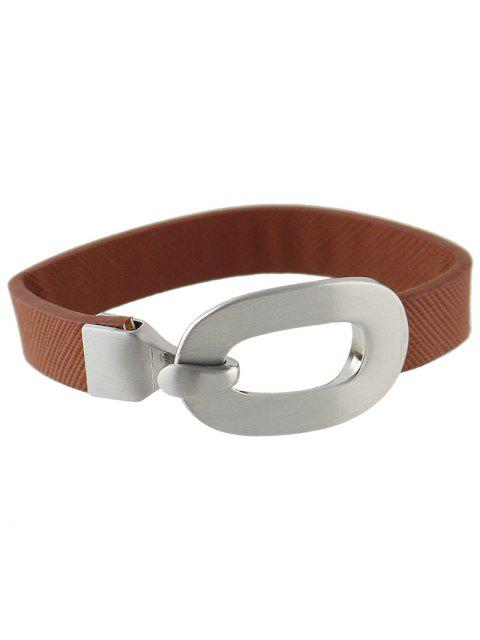 lady Faux Leather Bracelet - COFFEE  Mobile