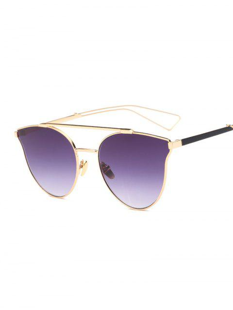 Ahueca hacia fuera la pierna de las barras transversales de la mariposa gafas de sol - Morado Oscuro  Mobile