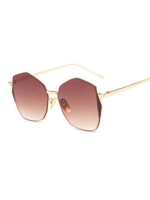 Triángulo Embellished irregulares gafas de sol - Té  Mobile