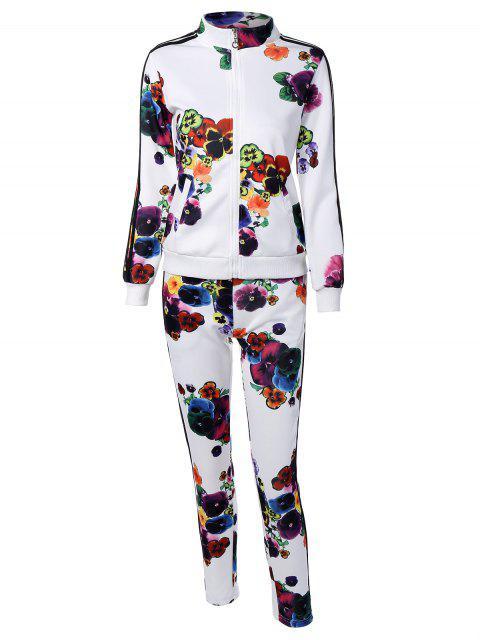 Sport à rayures Suit - Blanc M Mobile