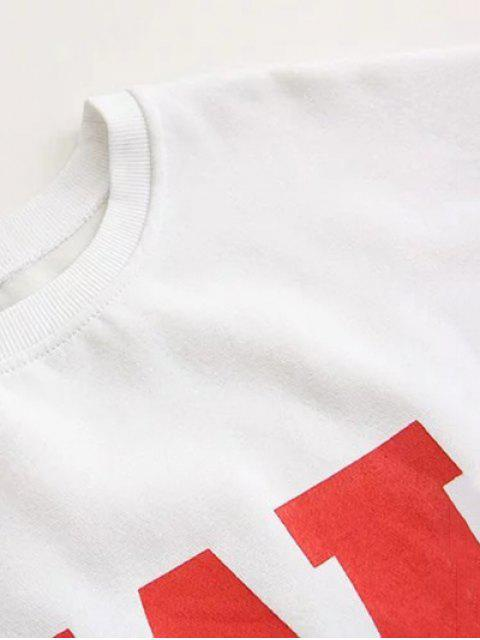 online Plus Size Printed Sweatshirt - BLACK 2XL Mobile