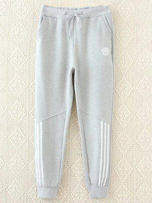 Striped Plus Size Drawstring Sweatpants