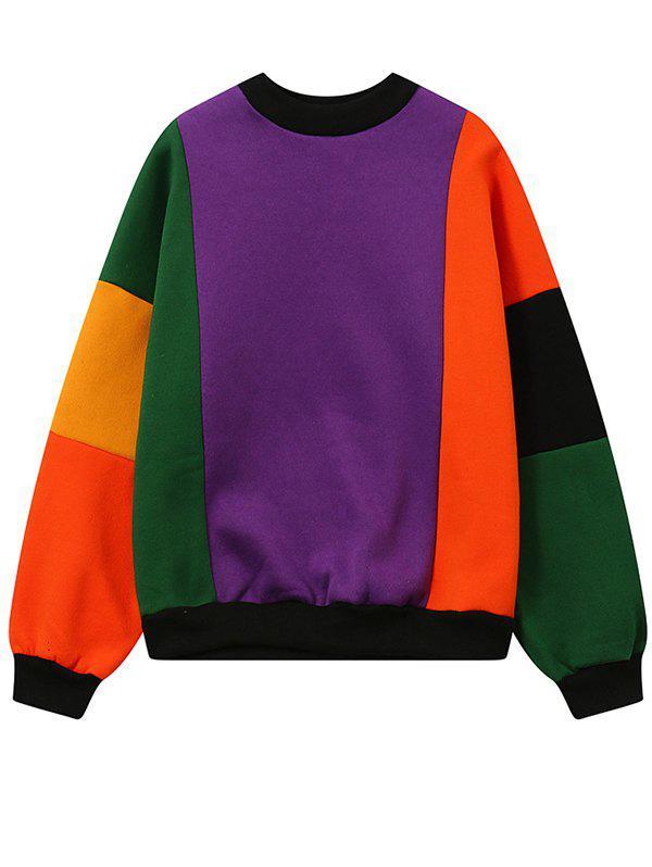 Fleece Color Block Sweatshirt