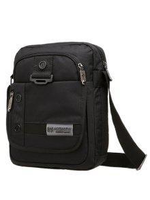 حقيبة طويلة التمر حول الجسم بسحاب غامق اللون - أسود
