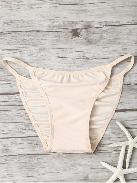 2019 Low Waisted Invisible Bikini Bottom In YELLOWISH PINK ONE SIZE | ZAFUL