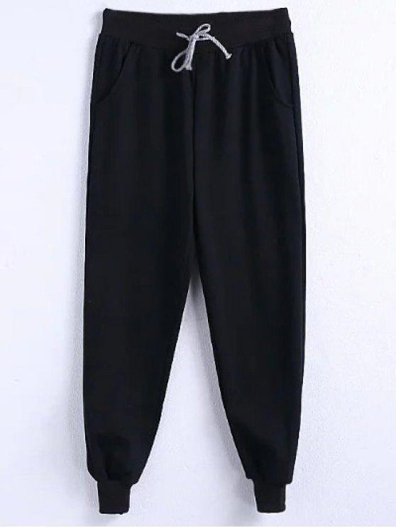 outfits Drawstring Jogger Running Pants - BLACK 4XL