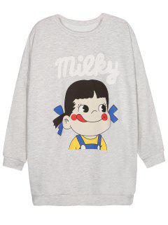 Manga Corta De La Camiseta Gráfica - Gris S