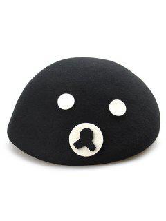 Little Bear Beret Hat - Black