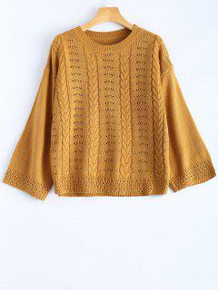 Pull A Col Rond Creux  - Terreux