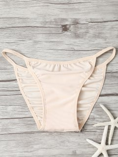 Niedriger Taillierter Unsichtbarer Bikiniboden - Fleischfarben