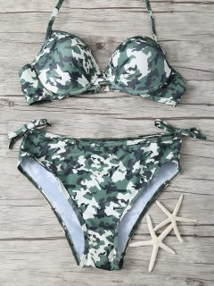 Padded Camo Bikini - Camouflage S