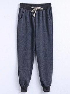 Drawstring Jogger Running Pants - Gray 3xl